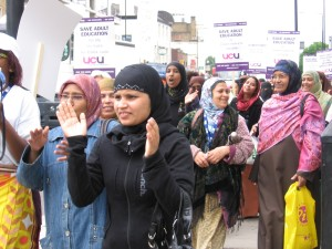 TH college ESOL protest 1