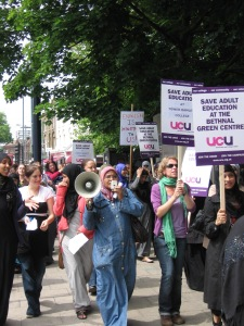TH college ESOL protest 2