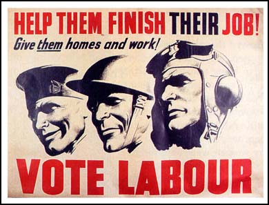 1945 political information advert  poster reproduction. Labour party  for Home